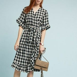 Anthropologie Isabella Sinclair buffalo wrap dress